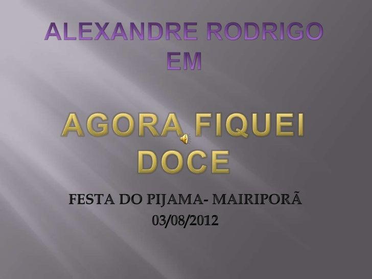 Alexandre Rodrigo