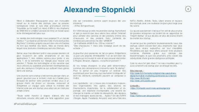 """Alexandre Stopnicki - Extrait Livre Blanc 80 #PortraitDeStartuper - Le plus petit dénominateur commun des entrepreneurs  innovants reste """"la startup"""" Slide 2"""
