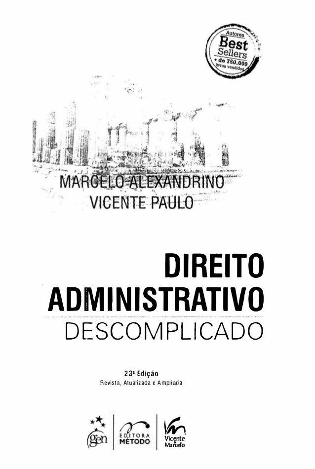 2011 BAIXAR DIREITO ADMINISTRATIVO DESCOMPLICADO
