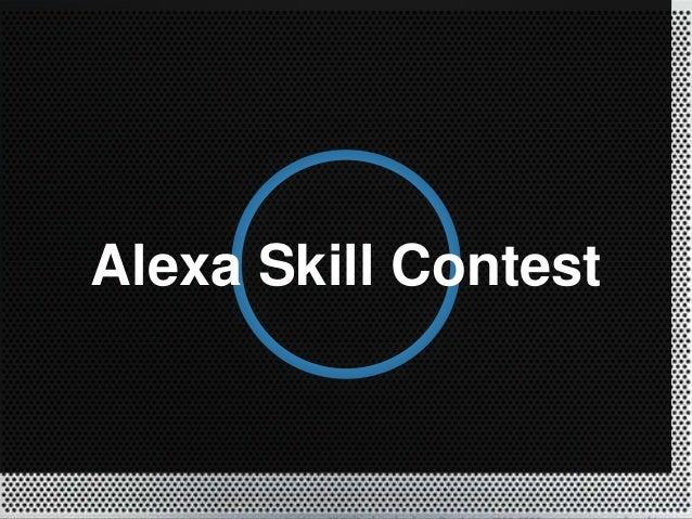 Alexa Skill Contest
