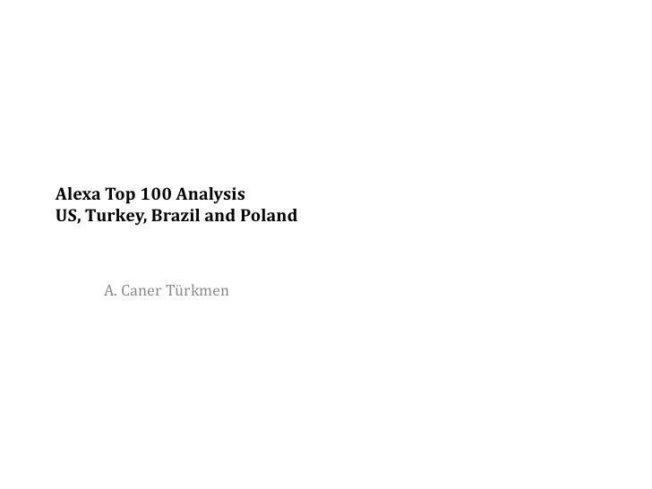 Alexa Top 100 Analysis US, Turkey, Brazil and Poland         A. Caner Türkmen