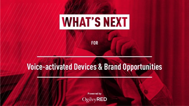 FOR Powered by Voice-activated Devices & Brand Opportunities