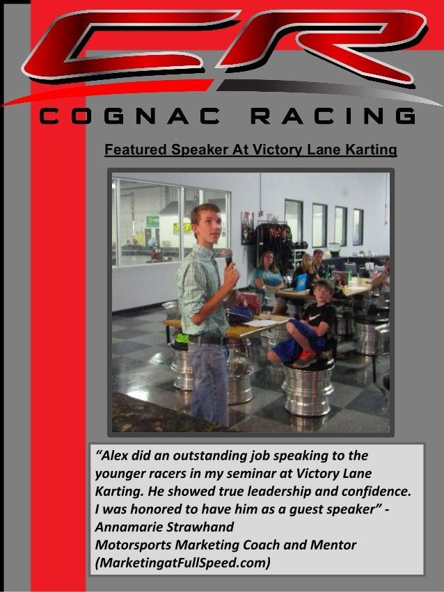 alex cognac professional race driver resume