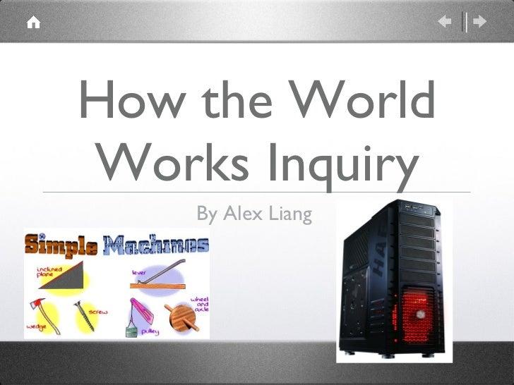 How the World Works Inquiry <ul><li>By Alex Liang  </li></ul>