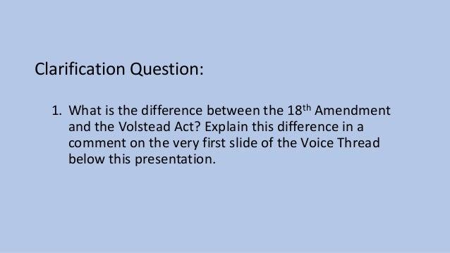 18th and 21st Amendments