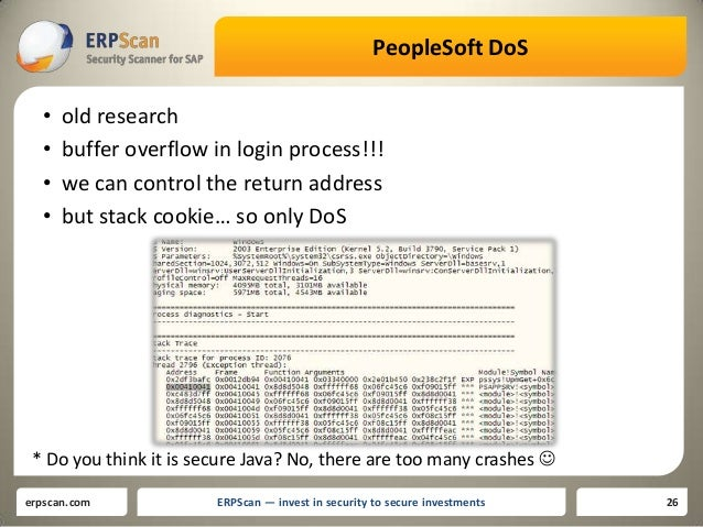 Alexey tyurin hr hacking bugs in peoplesoft peoplesoft ccuart Images