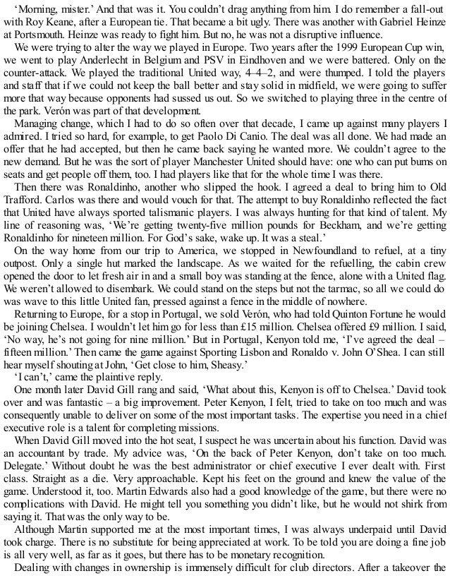 Alex ferguson  my autobiography   sir alex ferguson