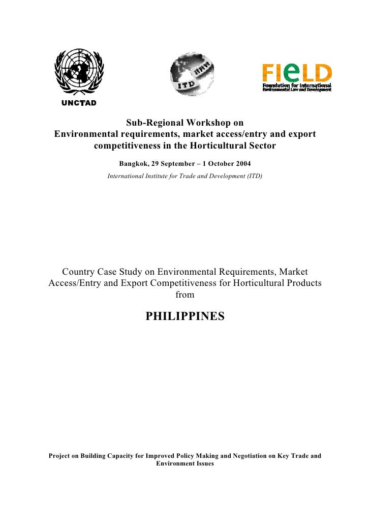 UNCTAD                  Sub-Regional Workshop on  Environmental requirements, market access/entry and export          comp...