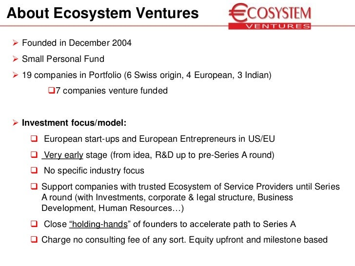 Venture and Angel Investing in Europe - Alex Fries Ecosystem Ventures…