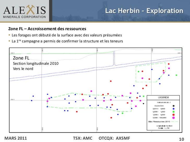 Lac Herbin – Exploration Zone FL – Accroissement des ressources• Click to edit ont débuté de la surface avec des valeurs ...