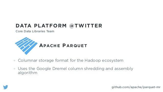 APACHE PARQUET Columnar storage for