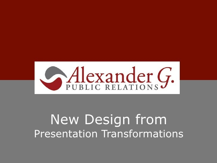 New Design fromPresentation Transformations