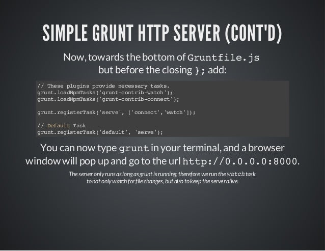 how to create your own grunt package