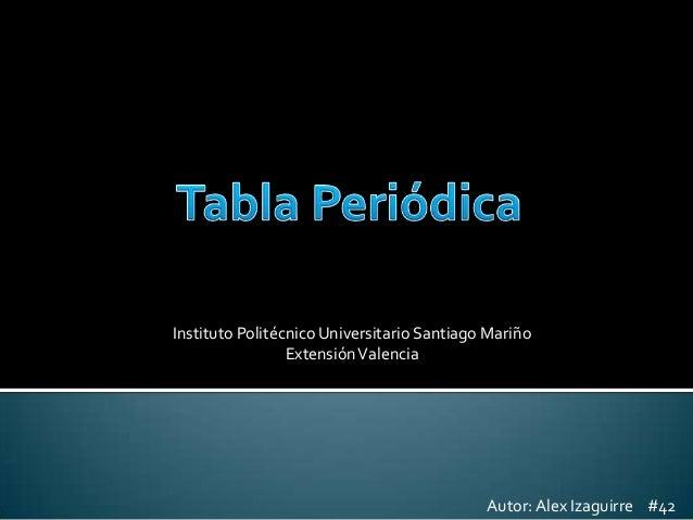 Instituto Politécnico Universitario Santiago Mariño Extensión Valencia  Autor: Alex Izaguirre #42
