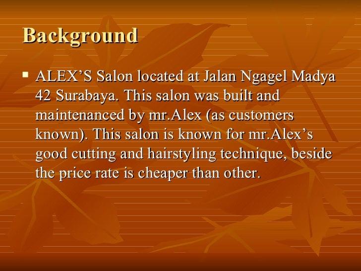 ALEX'S Hair Salon Strategy Analysis