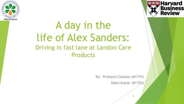 alex sander case study