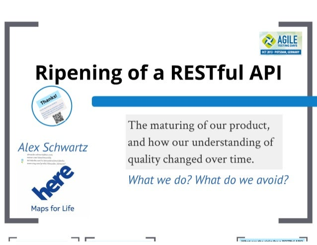 Ripening of a RESTful API