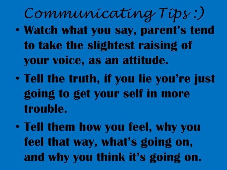 Alexus Communicating with parents Slide 3