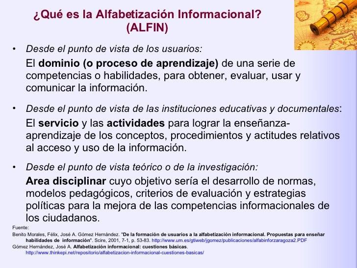 Alfabetización Informacional: Propuestas para Enseñar las Habilidades del Uso de la Información Slide 2
