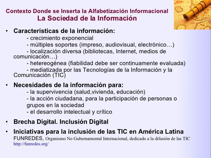 Alfabetización Informacional: Propuestas para Enseñar las Habilidades del Uso de la Información Slide 3