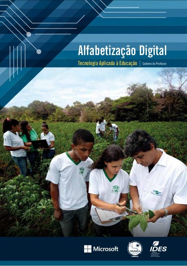Alfabetização Digital Tecnologia Aplicada à Educação  Caderno do Professor