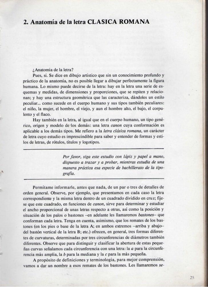 2. Anatomia de la letra CLASICA ROMANA      ^Anatomia de la letra?      Pues, si. Se dice en dibujo artistico que sin un c...