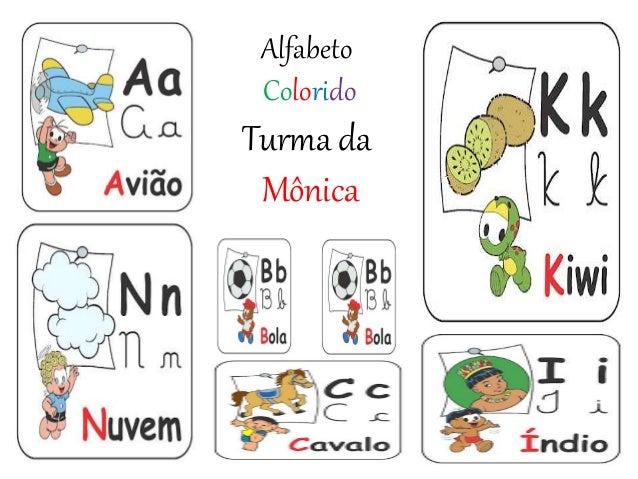 Alfabeto Colorido Turma da Mônica