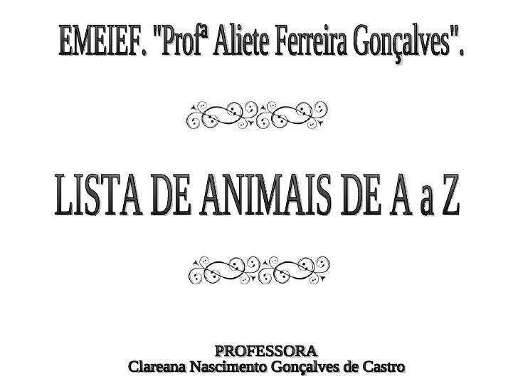 Conhecido Alfabeto de animais CP58