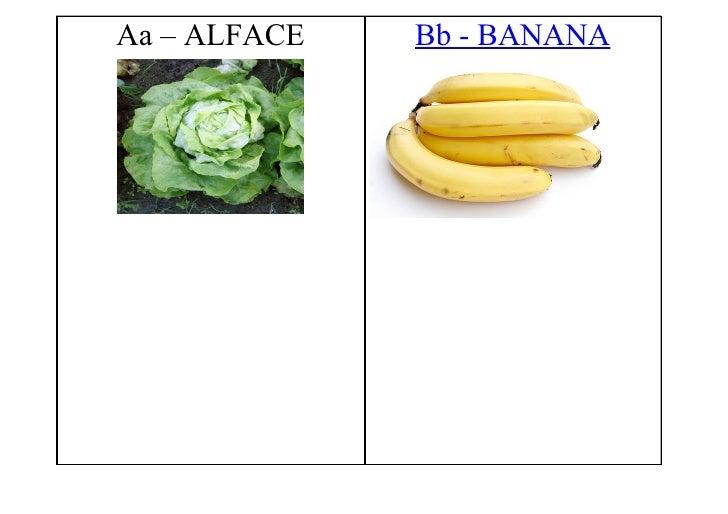 Aa – ALFACE   Bb - BANANA