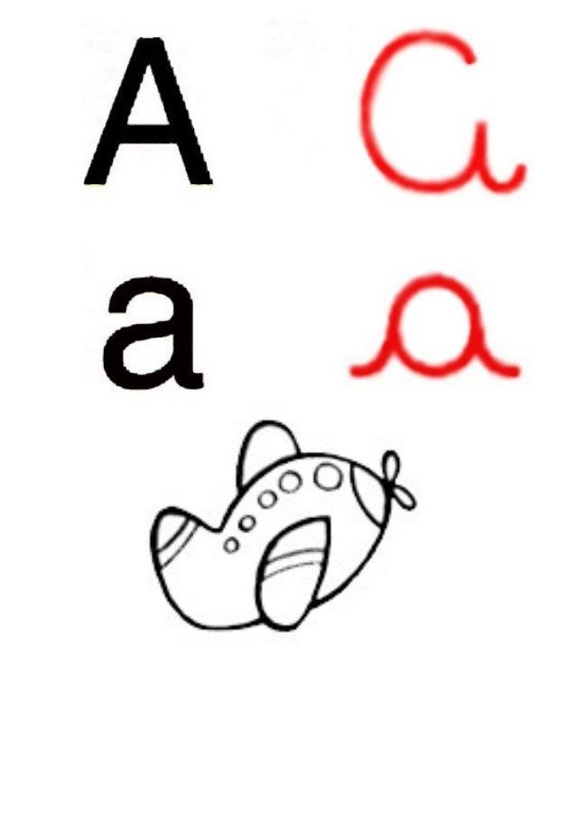 Alfabeto ilustrado   com as letras coloridas