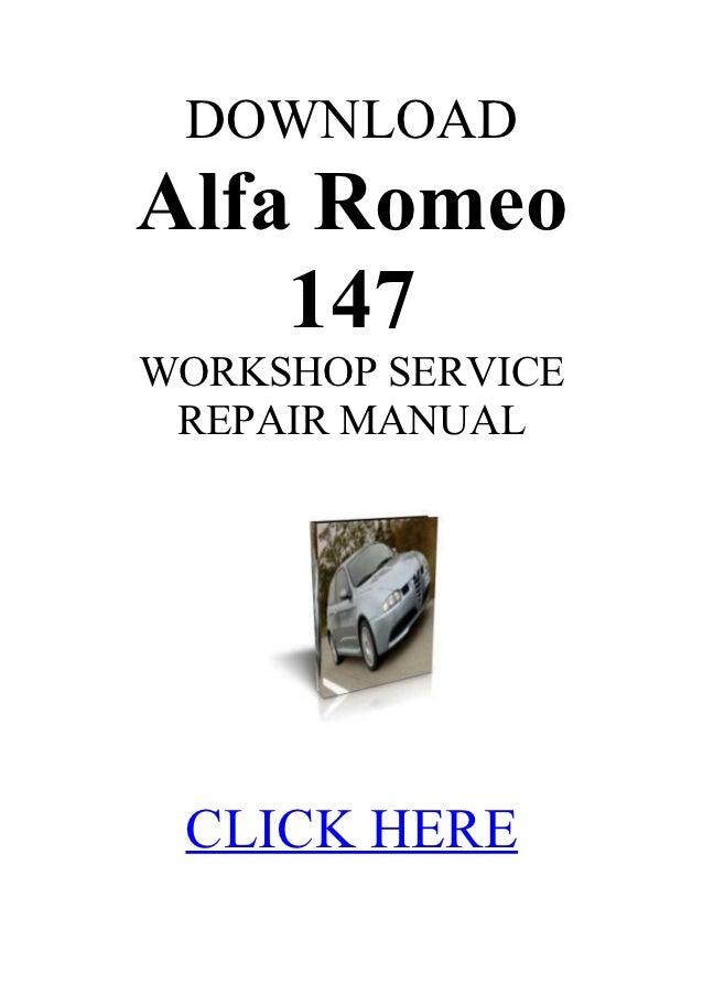 alfa romeo 147 1 6 service manual rh slideshare net Alfa 146 service manual alfa romeo 147