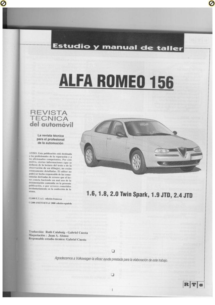 alfa romeo 156 manual de taller rh slideshare net Alfa 159 Alfa 146