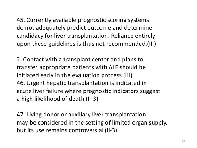 Acute Liver Failure Update