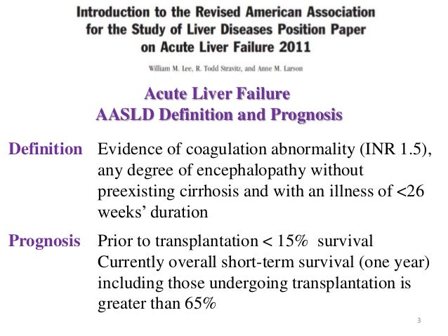 Acute liver failure update for Farcical failure meaning