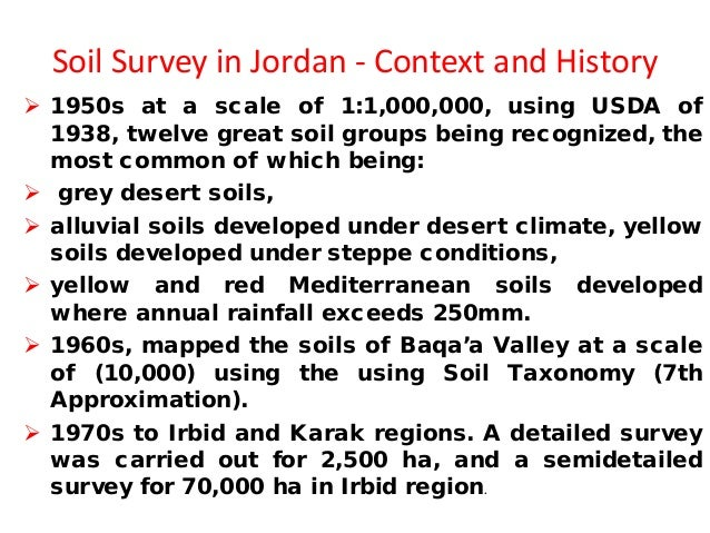 Status of soil information in jordan for Information about different types of soil