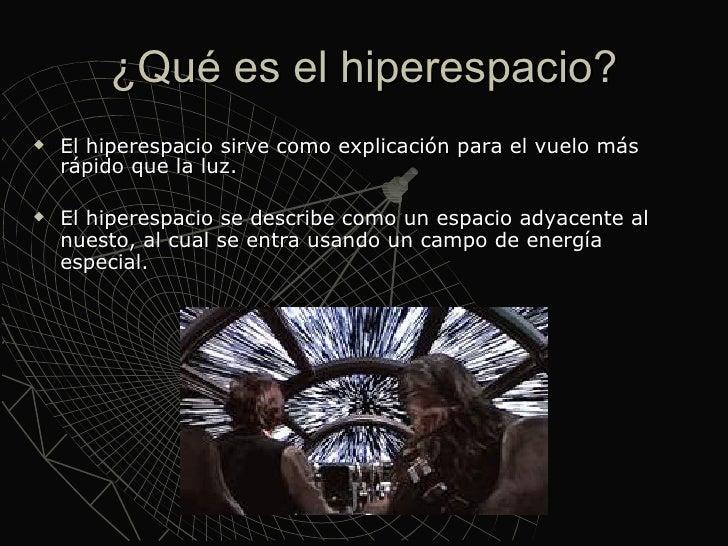 Resultado de imagen de El Hiperespacio