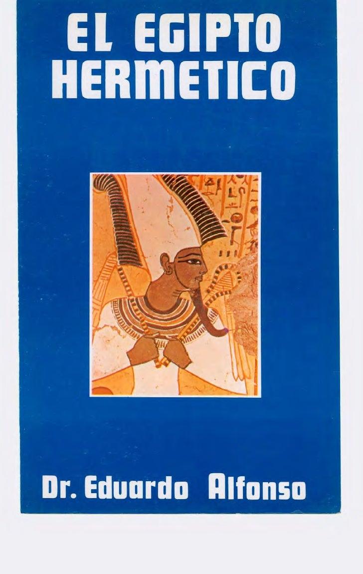 Alfonso, eduardo   el egipto hermetico