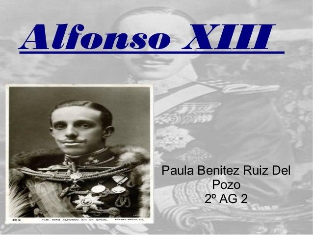 Alfonso XIII Paula Benitez Ruiz Del Pozo 2º AG 2