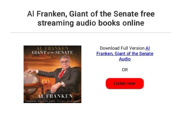 al franken giant of the senate audiobook free