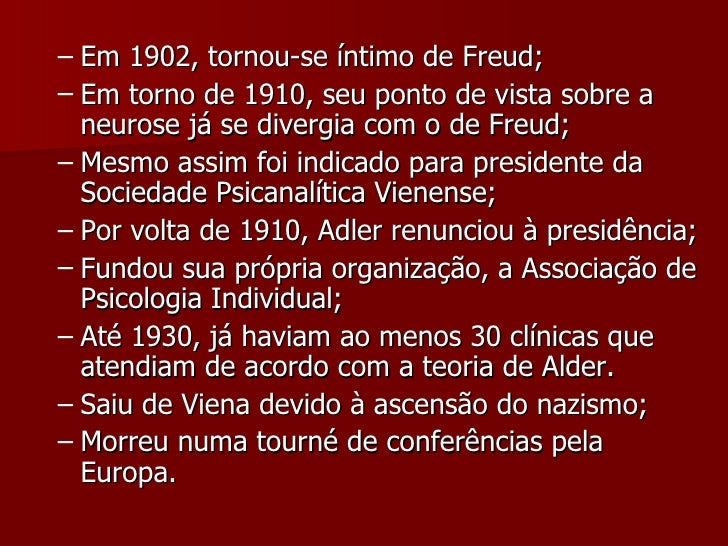 <ul><ul><li>Em 1902, tornou-se íntimo de Freud; </li></ul></ul><ul><ul><li>Em torno de 1910, seu ponto de vista sobre a ne...
