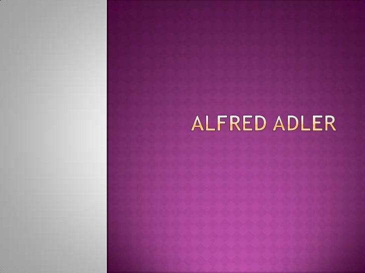 Alfred Adler<br />