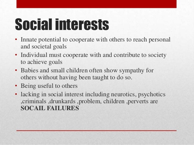 ... Shows Social Interests; 8.  Examples Of Interests