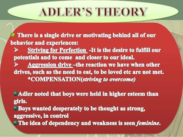 an examination of alfred adlers theory of personality Alfred adler and his theory of personality alfred adler and his theory of personality introduction the paper is a comprehensively focusing on alfred adler's theory, addressing a fictional.