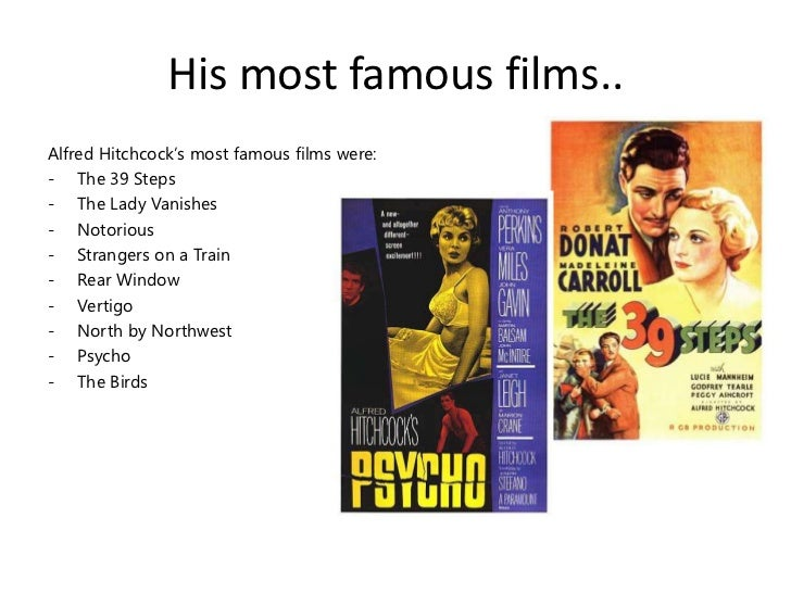 an analysis of alfred hitchcocks film verdugo Sir alfred joseph hitchcock, kbe (13 august 1899 - 29 april 1980) was an english film director and producer, widely regarded as one of the most influential filmmakers in the history of cinema.
