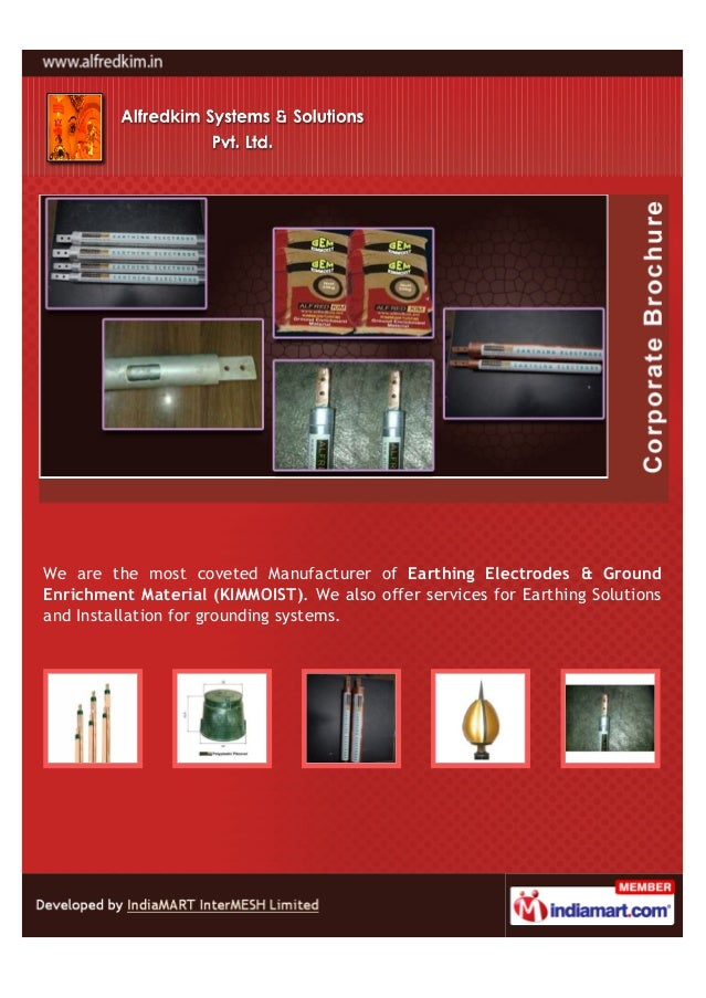 We are the most coveted Manufacturer of Earthing Electrodes & GroundEnrichment Material (KIMMOIST). We also offer services...