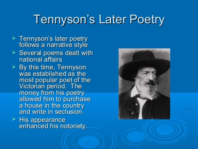 The early life struggles of alfred lord tennyson