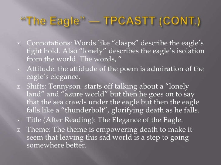The Eagle - Poem by Alfred Lord Tennyson