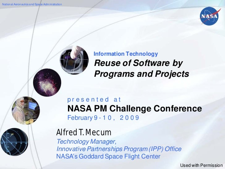 National Aeronautics and Space Administration                                                           Information Techno...