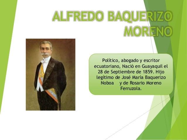 Alfredo baquerizo-moreno