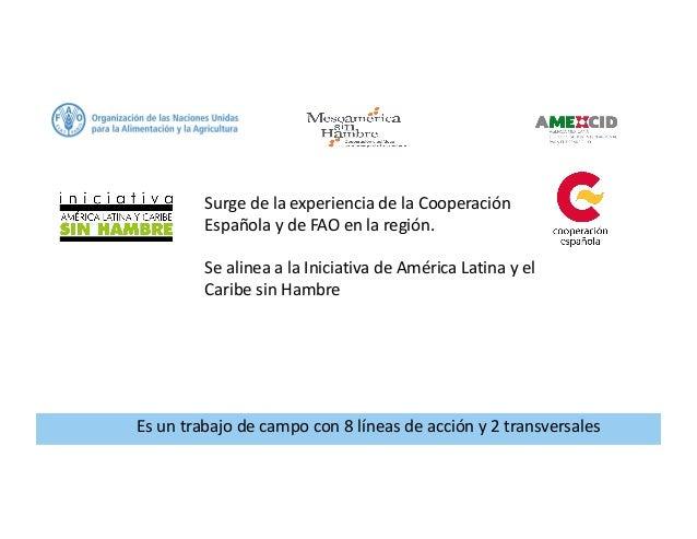Programa FAO: Mesoamérica sin Hambre Slide 2